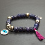bracelet saphir pyrite